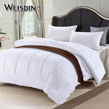 Made in china hotel home textile king size 333TC duck down feather quilted winter quilts wholesale