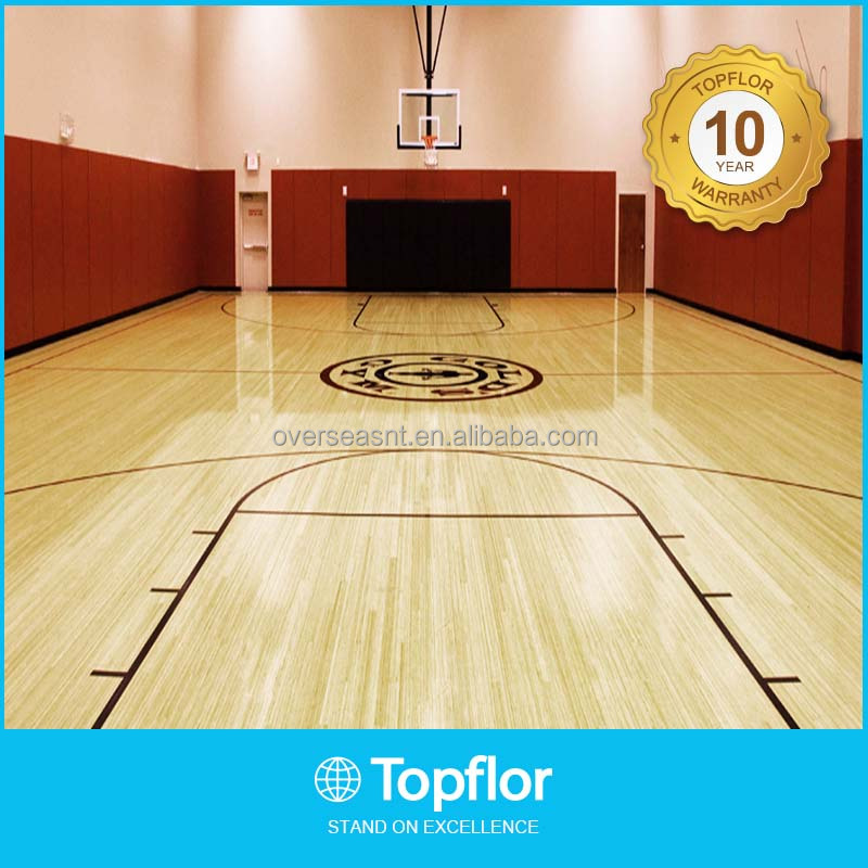 Best price indoor solid wooden flooring basketball court surface