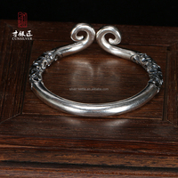 Discount Valentine's Day Gift Antique Reproduction Solid Sterling Silver Bracelets Jewelry For Men and Women