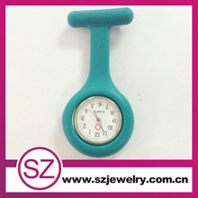 Colorful Doctor Jelly Nurse Watch Silicone with Pin Fob Pocket Watches Flowers