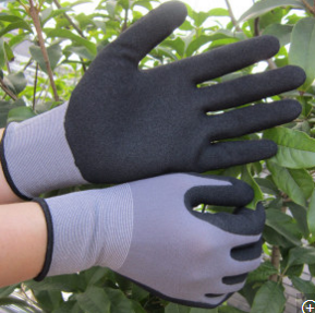 Protective Nylon latex Gloves Safety Work Glove OEM Gloves