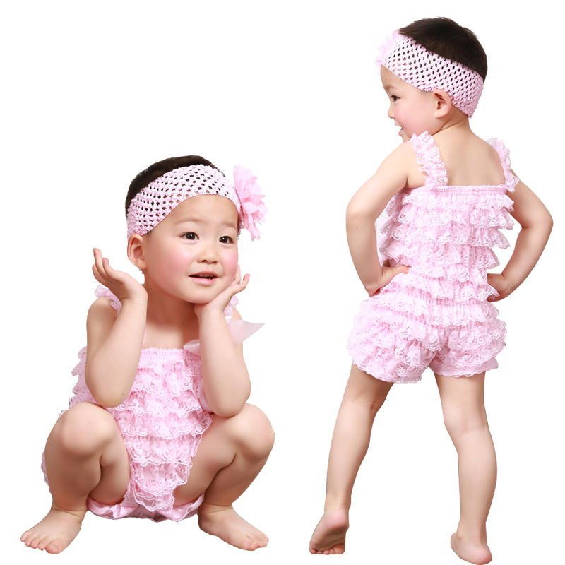 cc494593b5b Buy 2015 Cute Petti Baby Girl Lace Romper with Straps and Ribbon Bow Infant  Jumpsuit 31 Colors Summer Newborn Toddler Baby Rompers in Cheap Price on ...