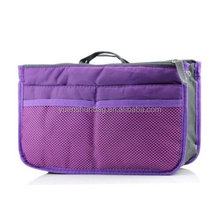 Lady Women Travel Insert Organizer Compartment Bag Handbag Purse Large Liner Tidy Bag - Purple