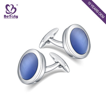 ODM plating fashion stainless steel shell wedding cufflink