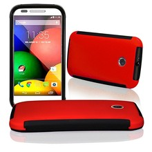 The new three robot mobile phone case for moto e case, PET two in one touch for moto e cover