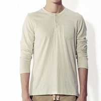 Long sleeve plain button t shirts made in bangladesh