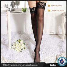 2016 hot women underwear compression nylon black silk tube stockings