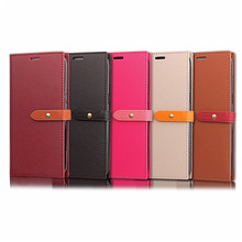 Magnetic Closure PU Leather Flip Folio Wallet Case for iPhone X