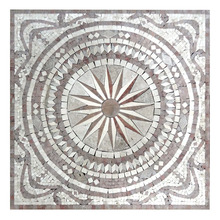Pattern tile , round mosaic tile , waterjet marble tiles design floor pattern