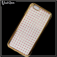 For iphone case 2016 electroplate tpu back cover glitter shining diamond leather case for philips w3500