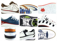 MAN SPORT LEATHER SHOE sketch, photorealistic project and prototype model