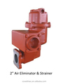 "2"" smith flow meter air eliminator& strainer"