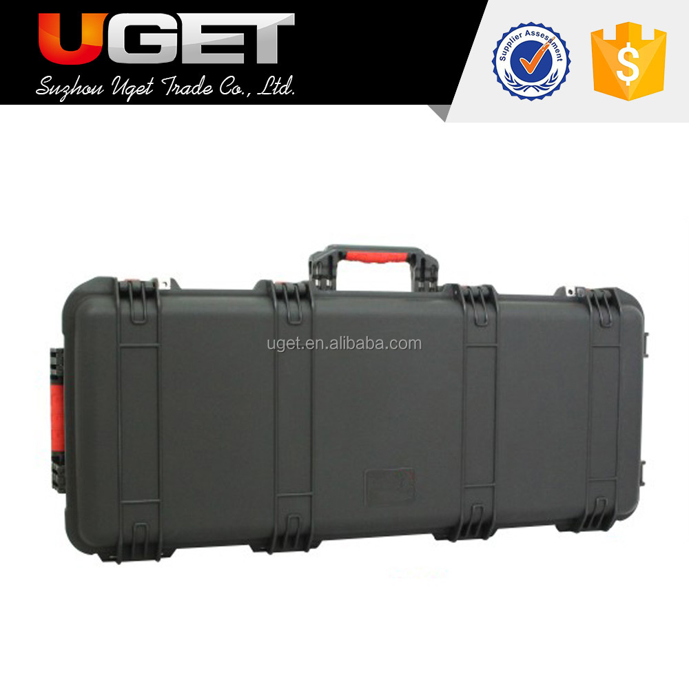 Default diced cubed foam interior portable plastic gun safety case