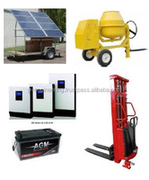 Solar Concrete Mixer with Electric forklift