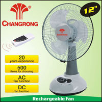 "CR-6312R 12"" ac dc battery electric table fans with remote control"