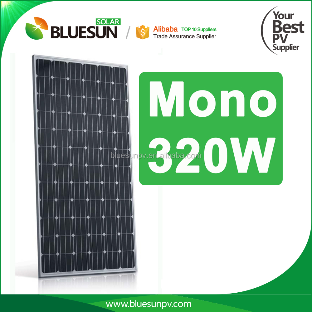 High efficiency industrial 320w 310w 300w mono solar panel for energy system