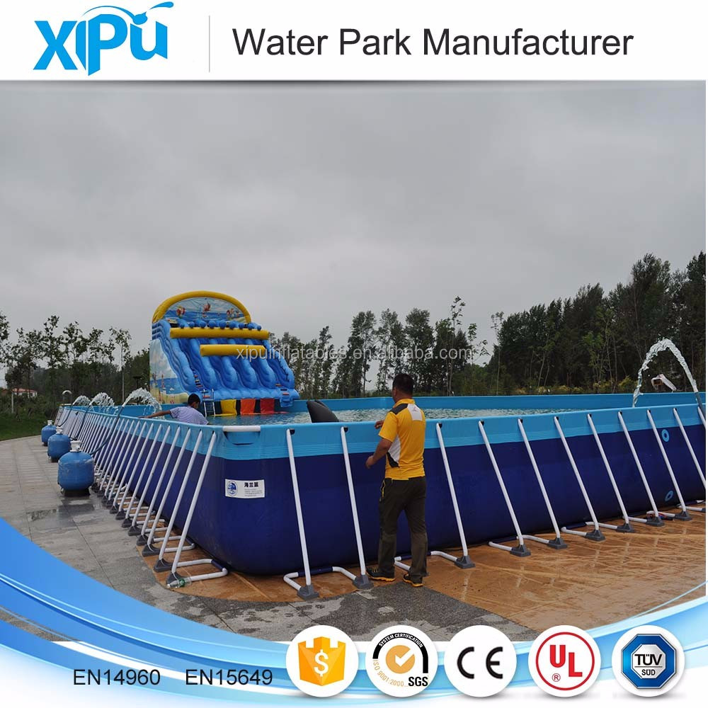 China Original Manufacturer Outdoor Above Ground Pvc Frame Pools , Steel Frame Pool