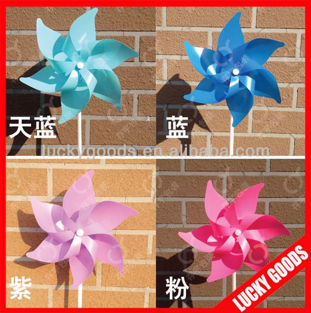 plastic outdoor colorful wind pinwheel wholesale