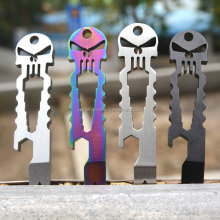 OEM tactical EDC multi size wrench Titanium skeleton Keychain tool