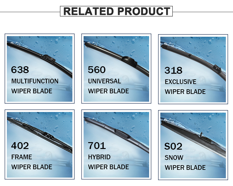 Rubber windshield beam wiper blade for car accessories