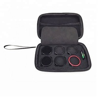 Customized zipper hard EVA camera filter case with carry handle