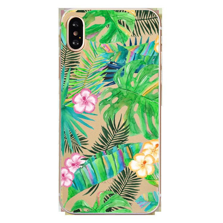 2019 Factory Price Flower Cactus Pattern Seamless Fit Mobile Phone Case For 6/7/8/<strong>X</strong>/XS/XR Anti-fall Cell Back Over