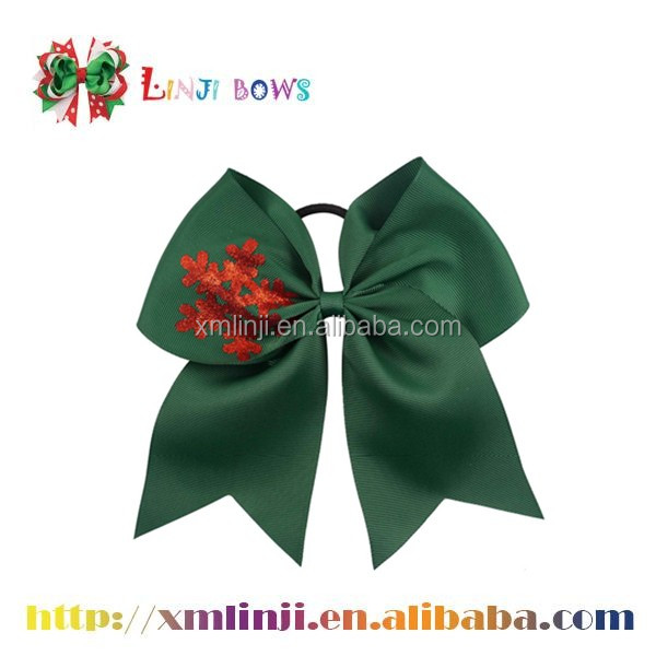 satin ribbon wholesale hair bow with custom printed logo for girls
