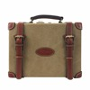 GuangZhou factory OEM customized canvas and leather classical cartridge case ammo box