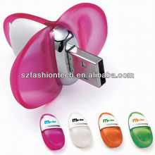 Novelty shape USB flash drive, lovely pea shape unique design usb flash drive bulk cheap
