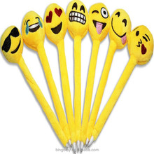 new product 2016 toys plush emoji pen soft emoji toys pen