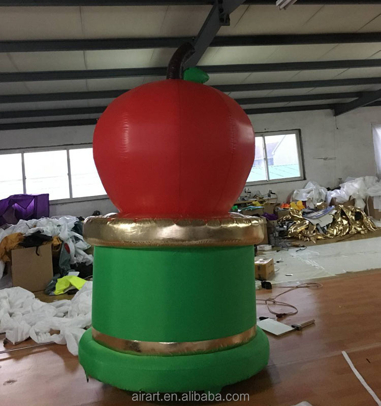 The fruit art festival decorates custome giant inflatable apple