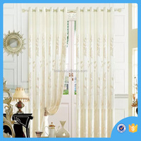 Ready made Polyester Jacquard window curtain , solid sheer curtain, made in china
