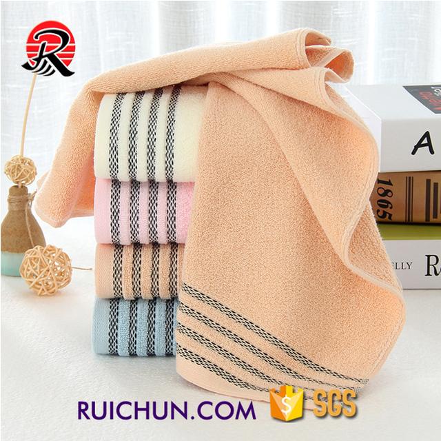 bathroom fancy stripe cheap 100% cotton terry hand towel wholesale