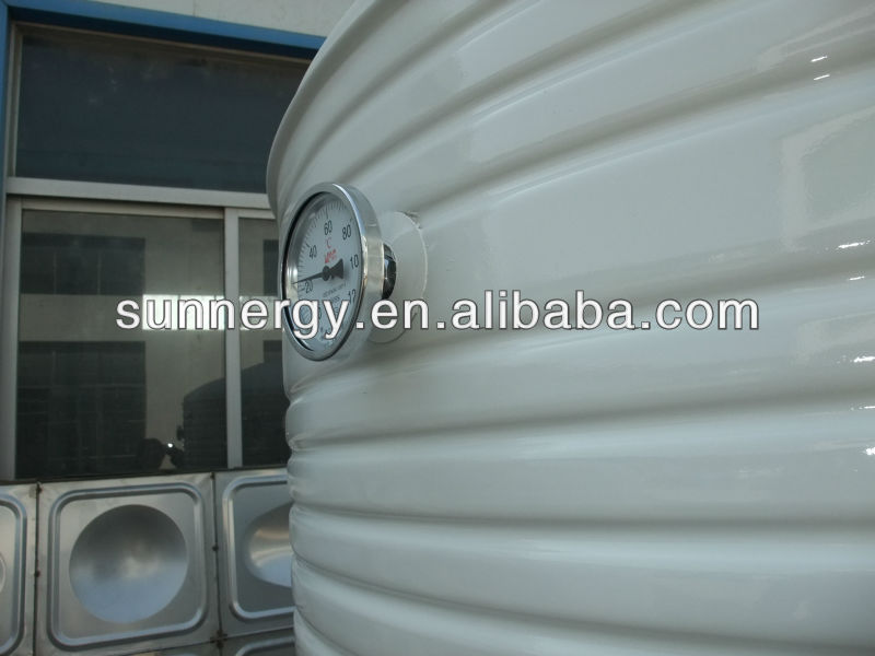 Solar water tank for atv