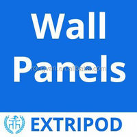 Extripod sound insulation nonflammable wall panels