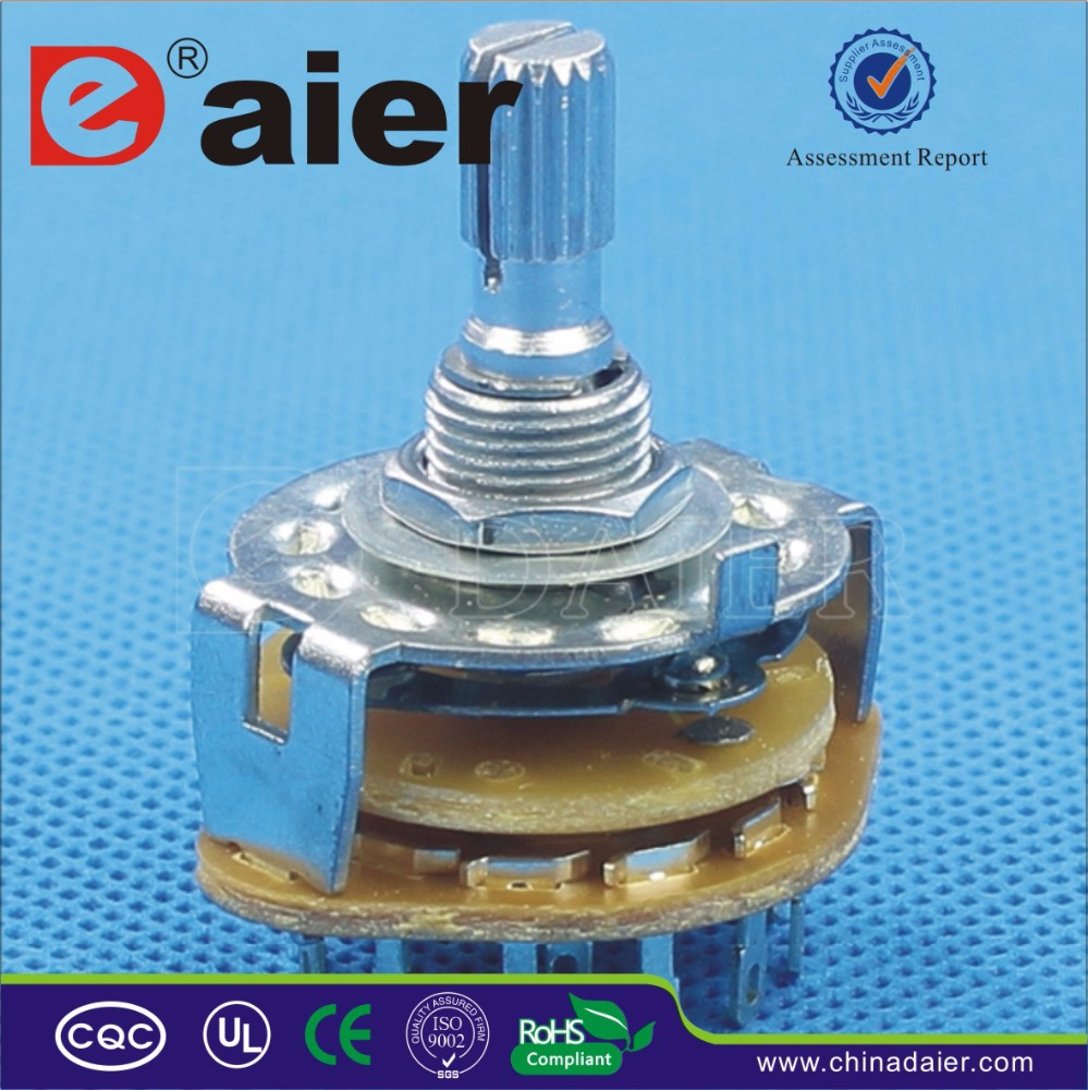 Daier high quality 7 position rotary switch