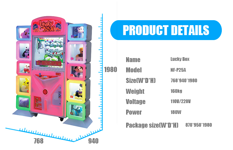 Gold Standard Amusement Games Lucky Box Singapore Claw Machine Supplier/Toy Claw Machine/Selling Doll Claw Machine