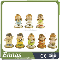 Polyresin children angel figurines for table decoration and gifts