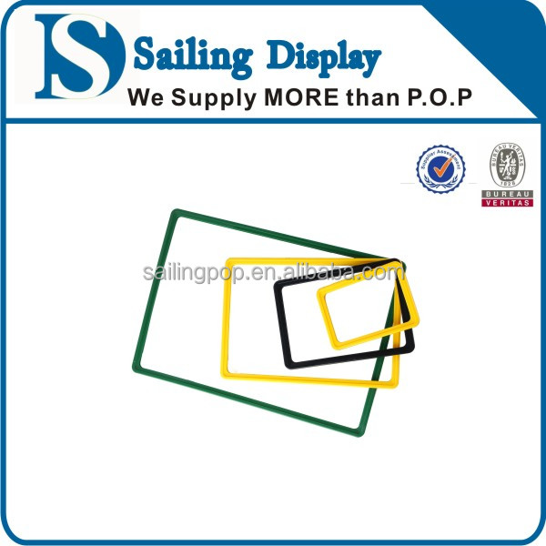 Display Plastic Poster Picture Frame For Supermarket