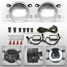 Universal sealed with glue by machine led fog drl light for Peugeot 4007 2007