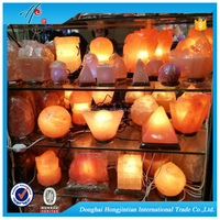 HJT Natural Crystal Salt Lamp Light , Himalayan Decoration Salt Lamps Orange Rock salt Lamp