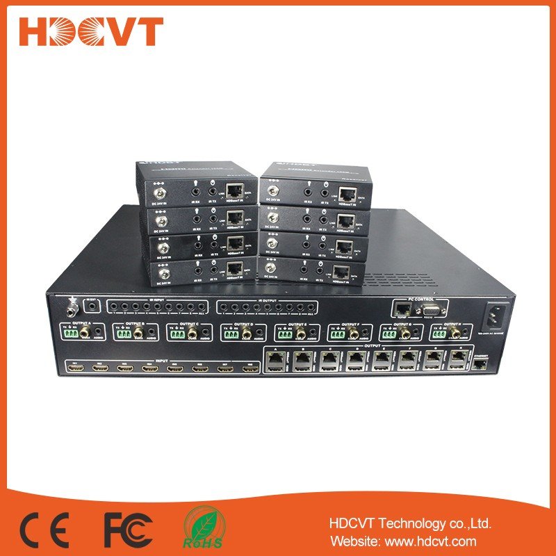 4K HDBaseT matrix 8x8 over 100m extender hdbaset matrix 8x8 hdcp2.2