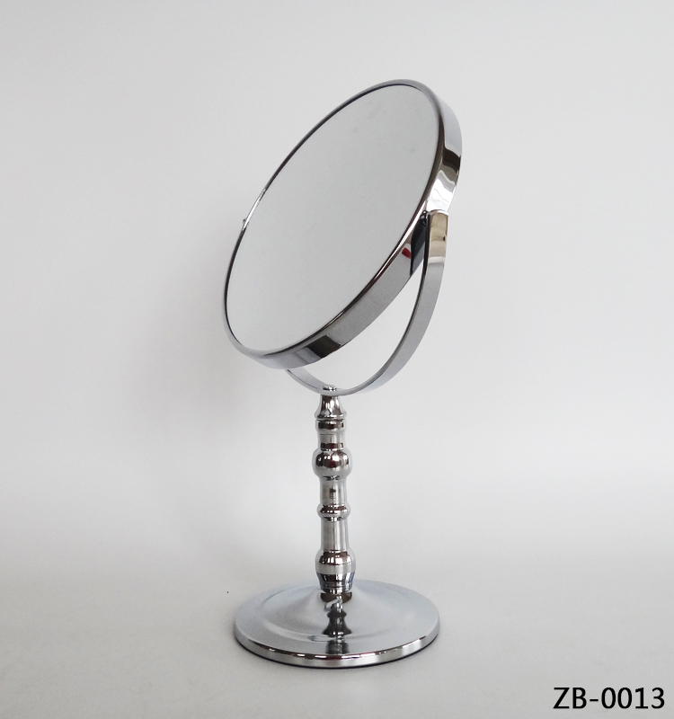 Silver metal framed cosmetic infinity mirror