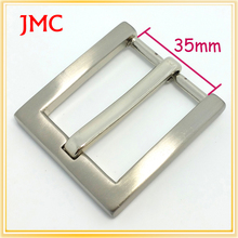 35mm custom zinc alloy silver belt buckles womens