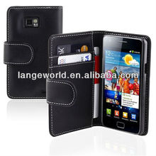 C&T PU Leather Card Slot Wallet Flip Book Case For Samsung Galaxy S2 i9100
