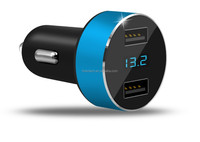 Car charger 3.8v LED Display Voltage and Current for Apple iPhone,iPad,Samsung Galaxy /S Series&Edge Models