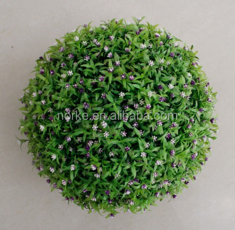 30CM Pink Flower Long Leaf Ball Artificial Flower Ball