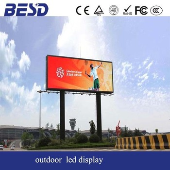 6mm pixel pitch led display screen outdoor full color with die casting aluminum