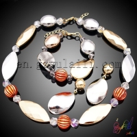 Indian bridal pearl jewelry sets Fine jewelry China jewellery gold