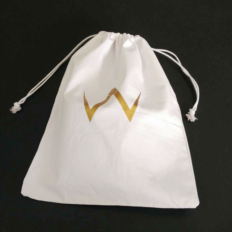 High Quality Dust Cotton Soccer Shoes Bag With Gold Logo